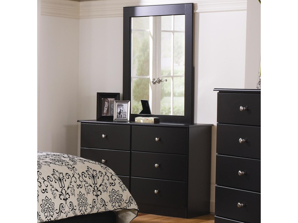 Lang Special6 Drawer Dresser with Mirror Combination