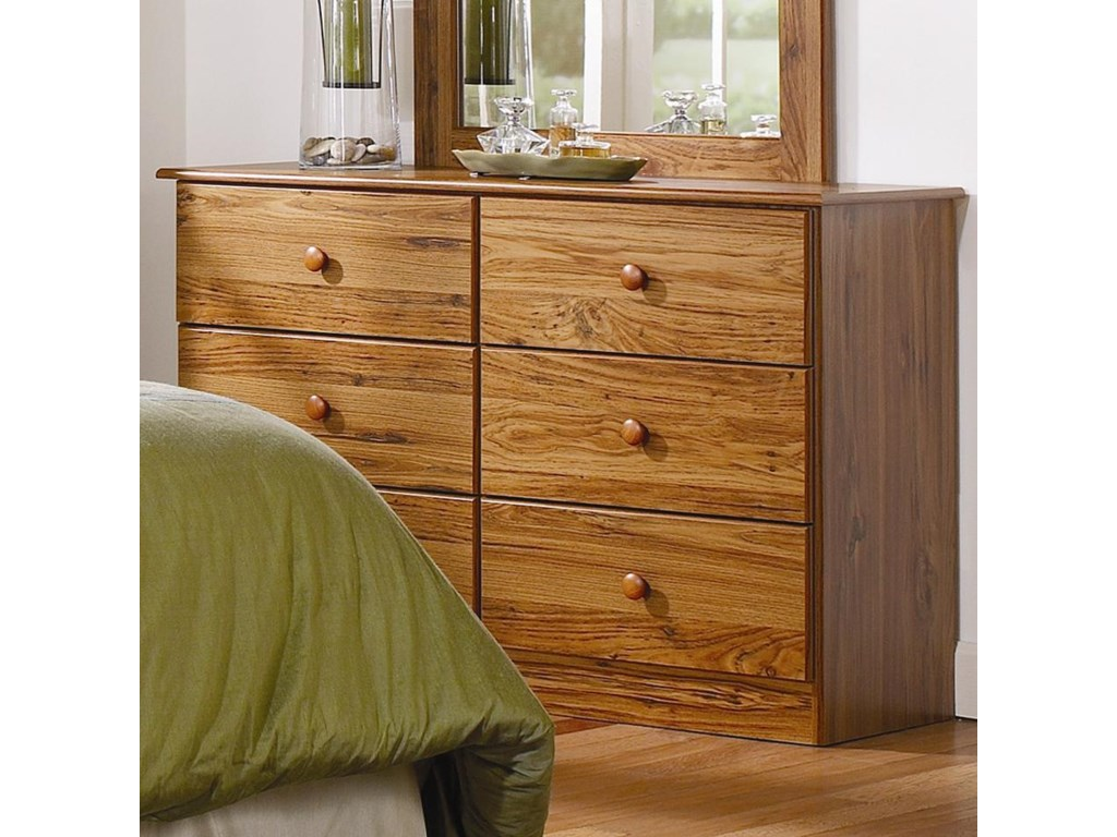 Lang Special6 Drawer Dresser with Roller Glides
