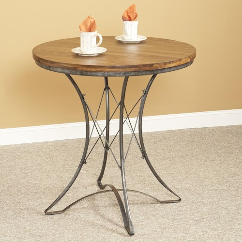 Largo Abbey Round Pedestal Counter Height Dining Table