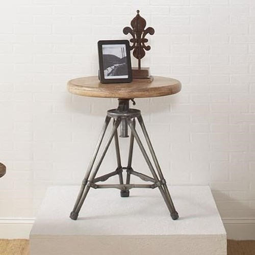 Largo Accent Tables Tripod Round End Table with Metal Base