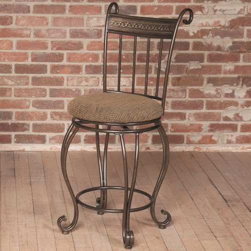 Largo Beau Counter Height Stool w/ Upholstered Seat