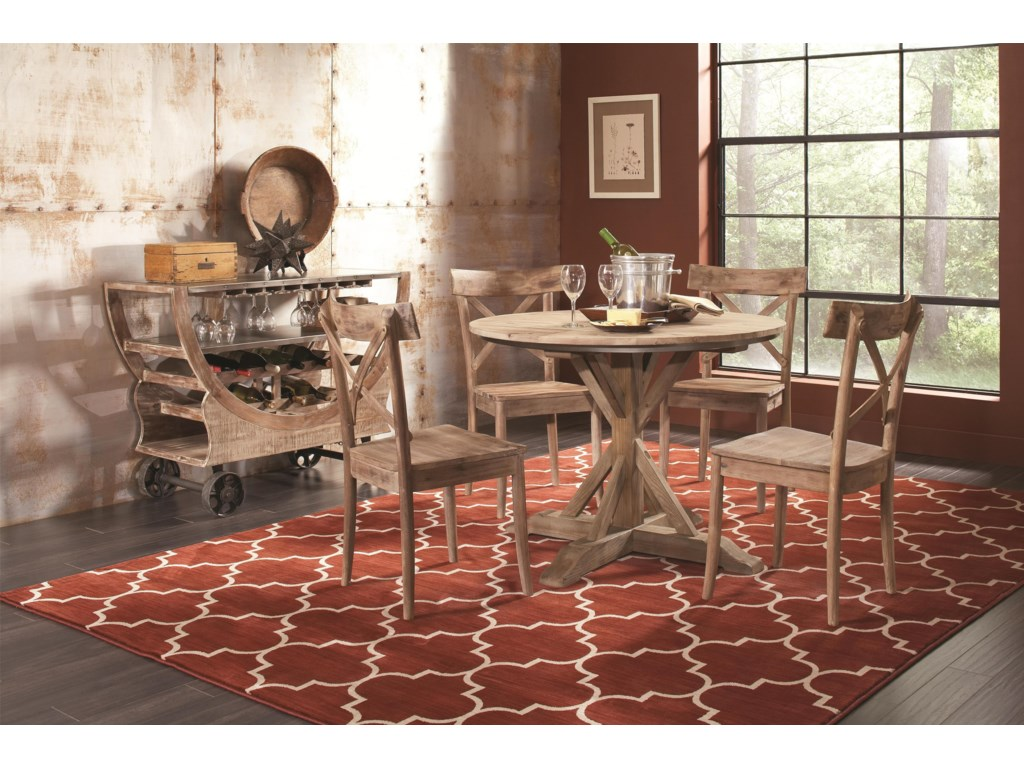 Largo CallistaRound Dining Table and Side Chair Set