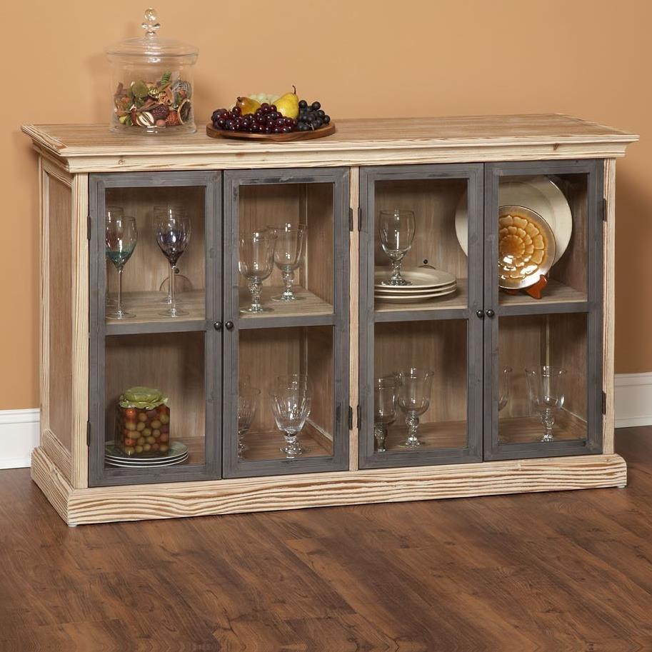 Largo Callista Glass Door Dining Storage Buffet - Baer's Furniture ...