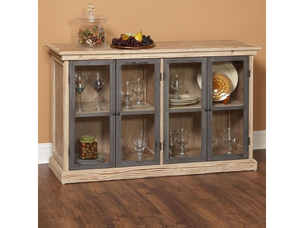 Largo Callista Glass Door Dining Storage Buffet