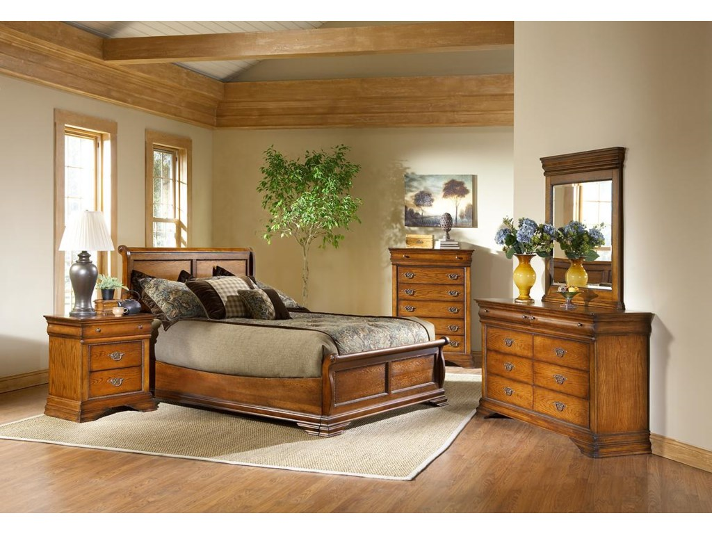 Shown with Low Profile Bed, Chest, Dresser, and Vertical Mirror