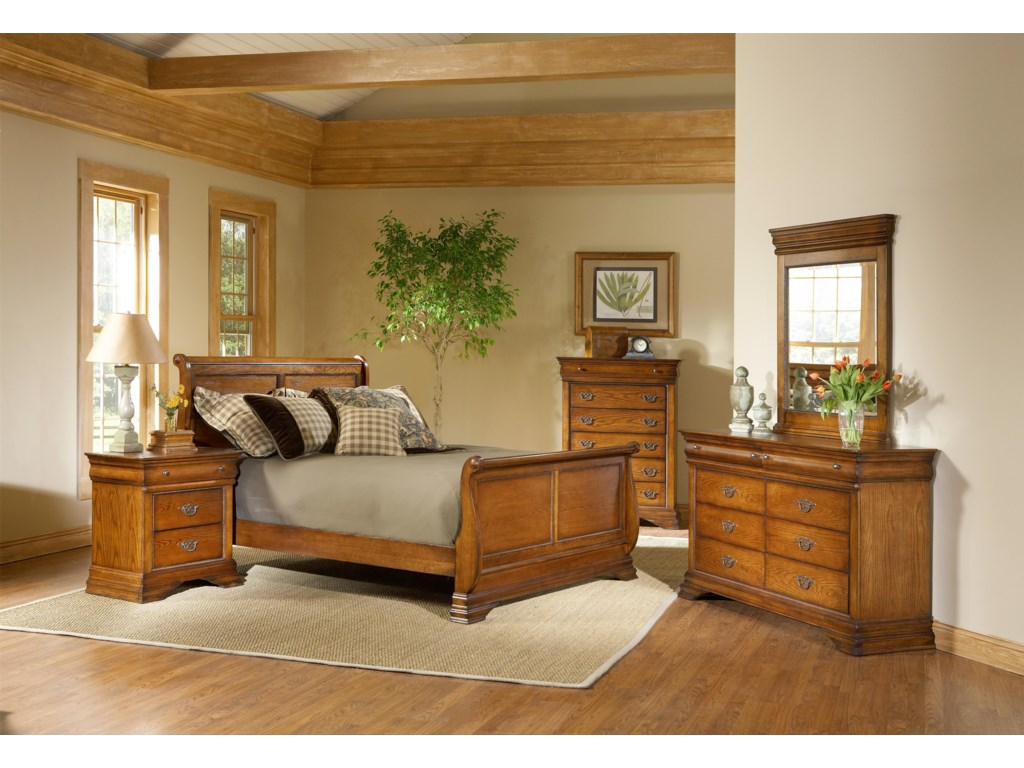 Shown with Vertical Mirror, Dresser, Chest, and Bed