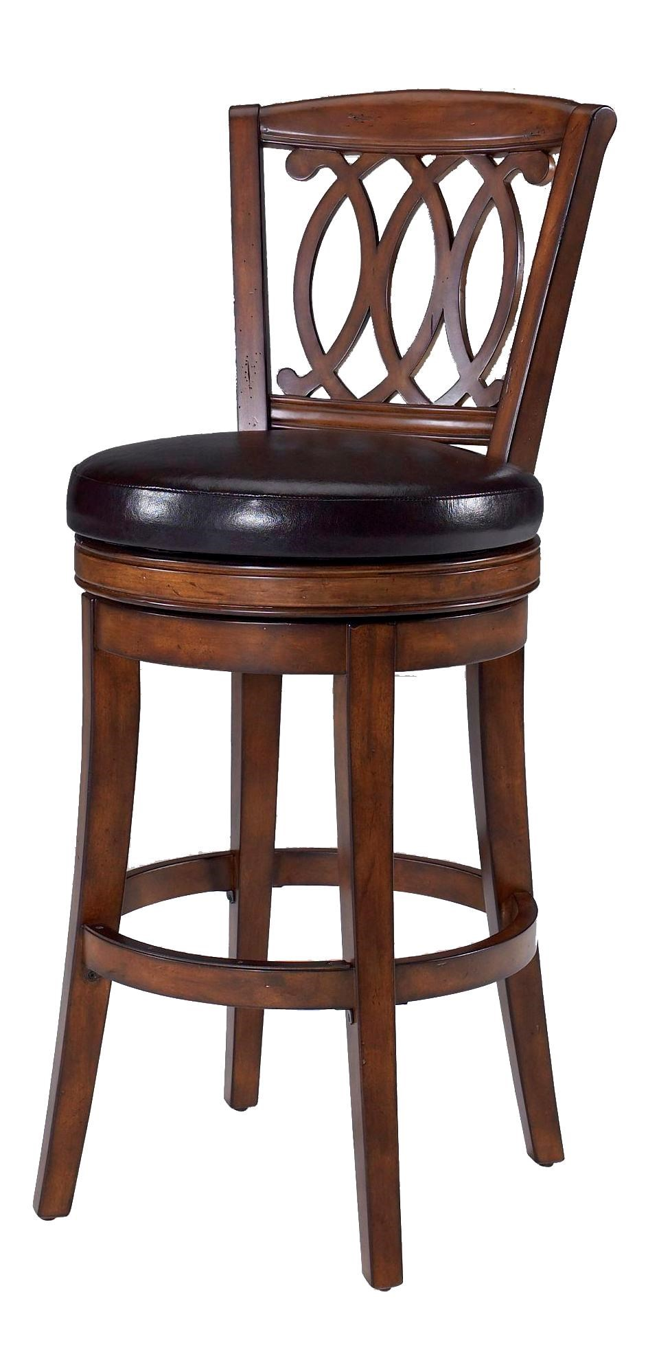 Largo Paris 30 Walnut And Faux Leather Swivel Counter Stool With