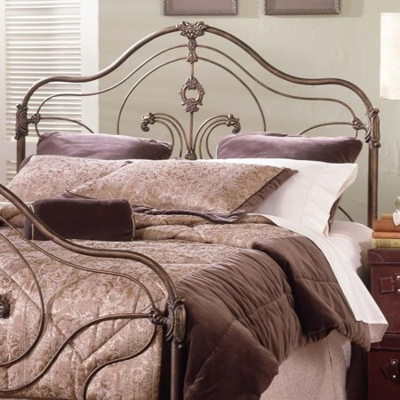 Queen Steel and Aluminum Headboard and Frame
