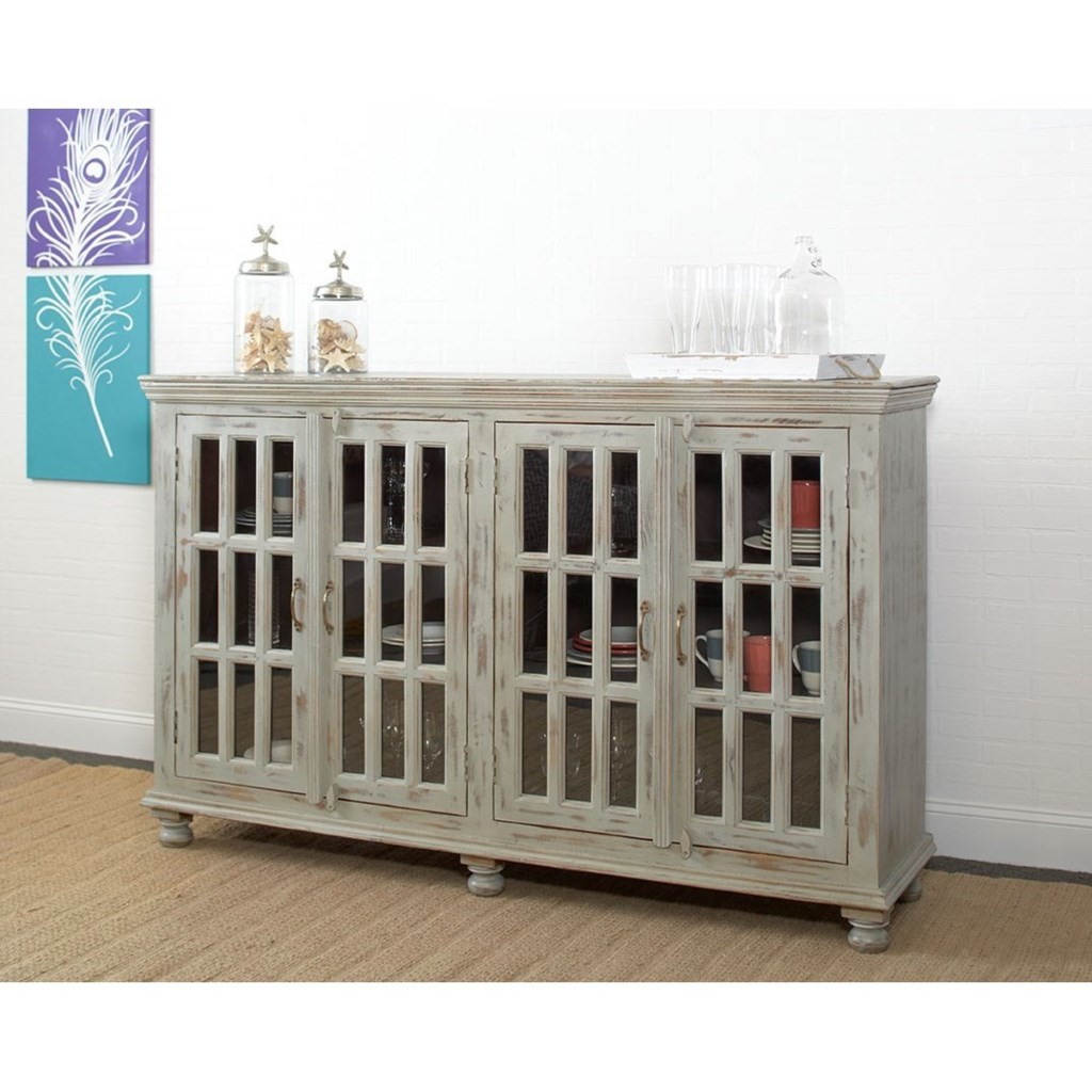 Largo Rustic Collectibles Rustic Sideboard With Glass Doors  # Meuble Tv Ware