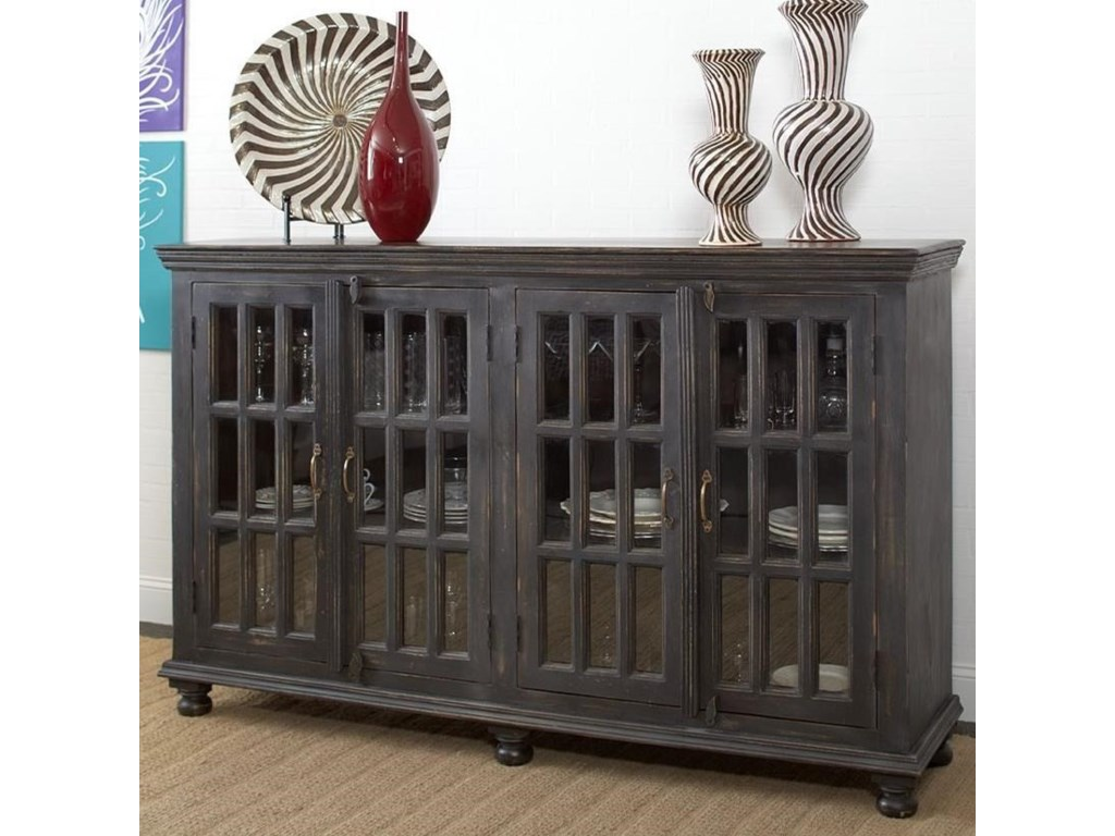 Rustic Collectibles Rustic Sideboard With Glass Doors By Largo At Lindy S Furniture Company