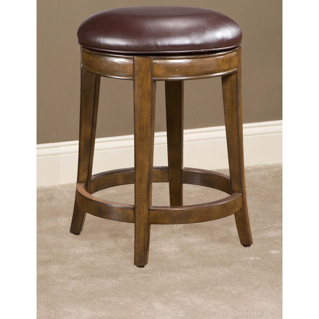 Largo Trevor 24 Swivel Counter Stool With Upholstered Seat