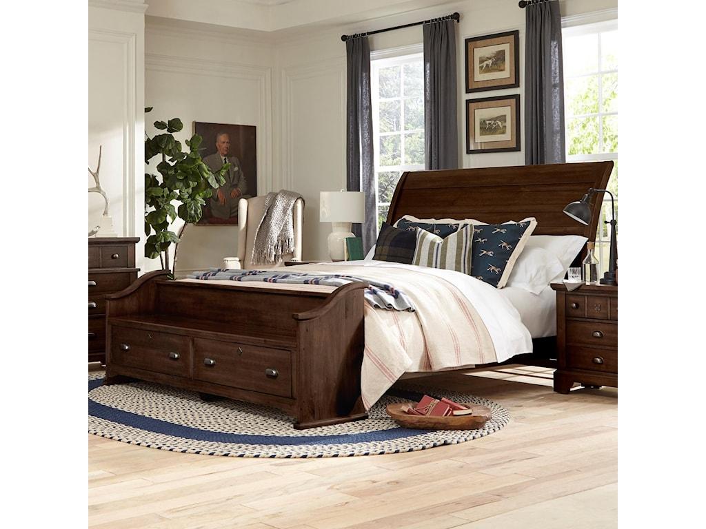 Laurel Mercantile Co. LMCo. Home Queen Sleigh Bed