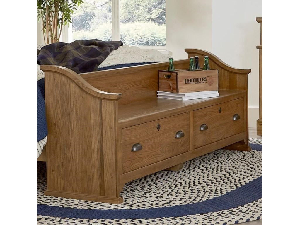 Laurel Mercantile Co. LMCo. HomeStorage Bench