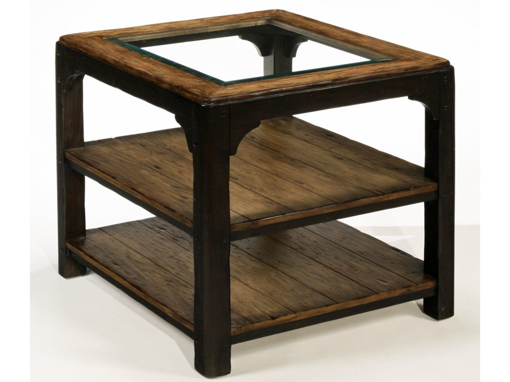 LaurelHouse Designs CarsonGlass Top End Table