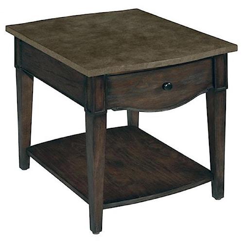 LaurelHouse Designs Emery 1 Drawer Rectangular End Table