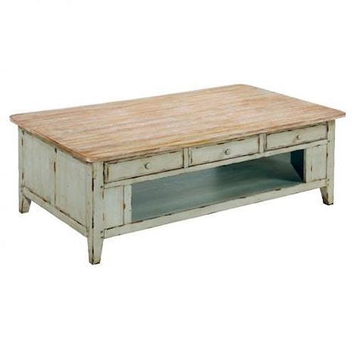 LaurelHouse Designs Haley Rectangular Coffee Table w/ Storage Shelf
