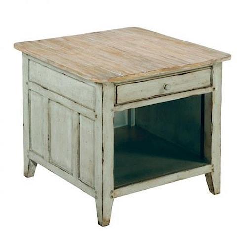 LaurelHouse Designs Haley Rectangular End Table w/ Drawer