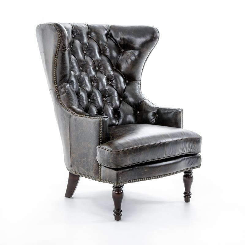 Lazzaro Sedgefield Lazzaro Sedgefield Wing Chair With Nailhead Studs    Baeru0027s Furniture   Wing Chair