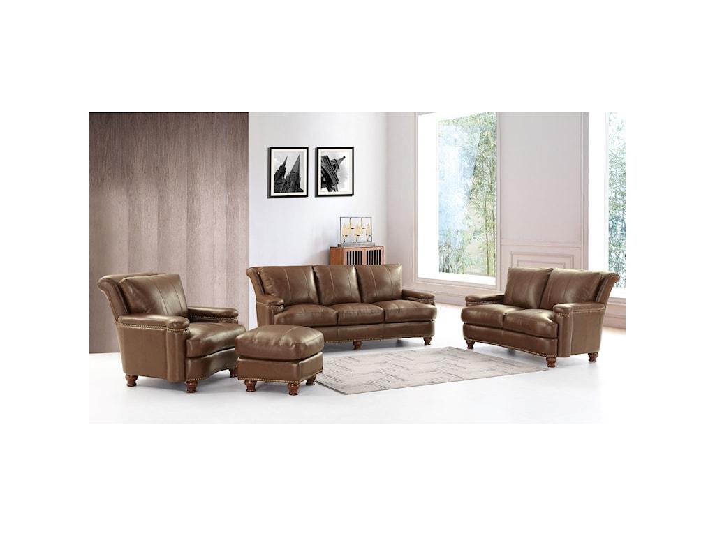 Leather Italia USA HuttonLeather Sofa