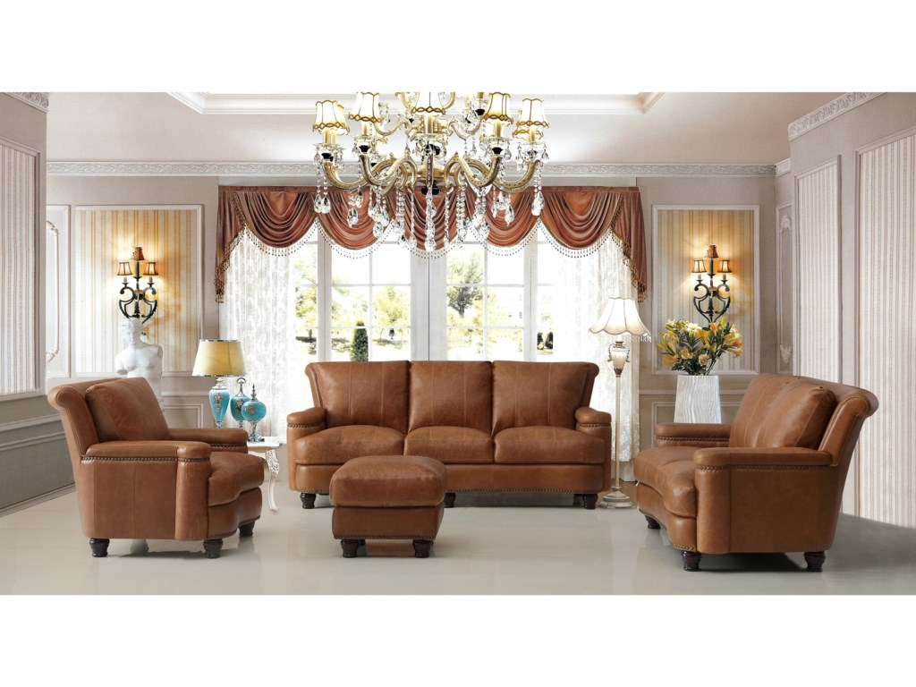 Leather Italia USA HuttonLiving Room Group