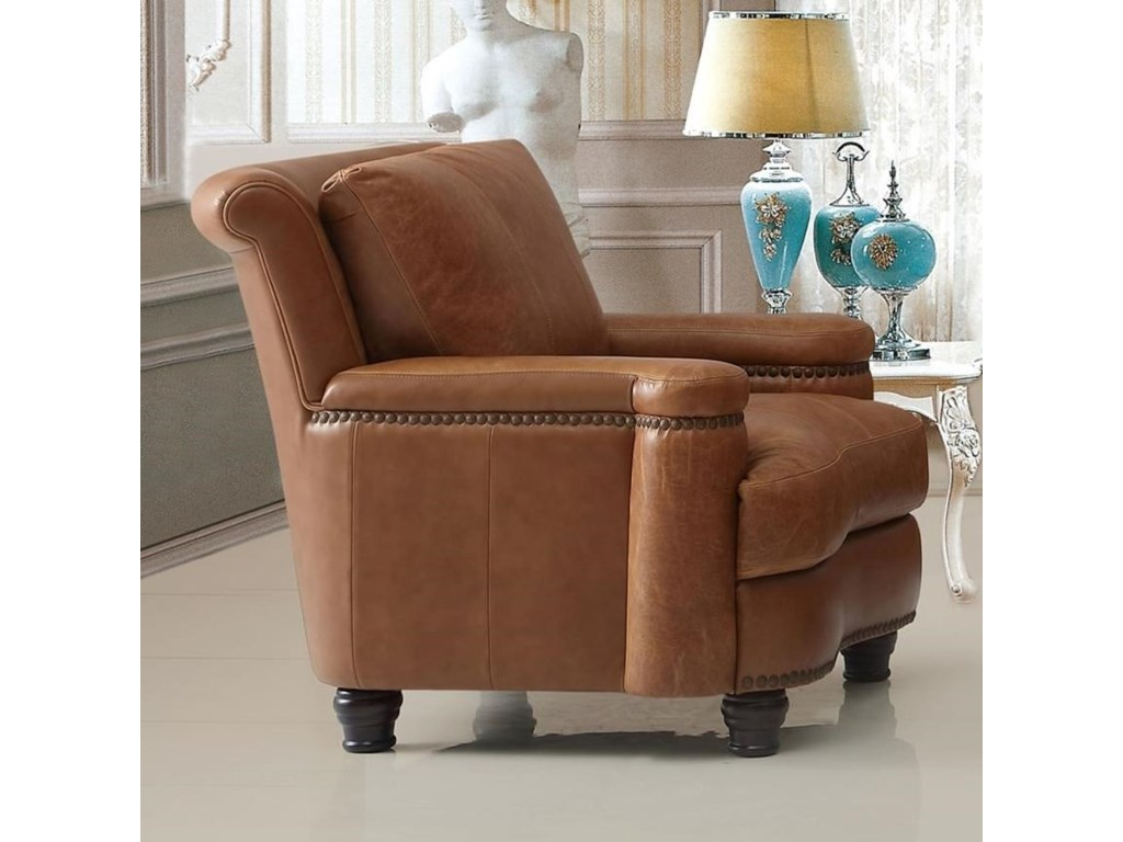 Leather Italia USA HuttonLeather Chair