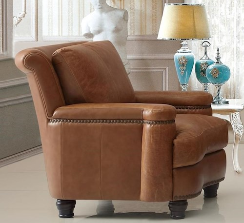 Leather Italia USA Hutton Leather Chair