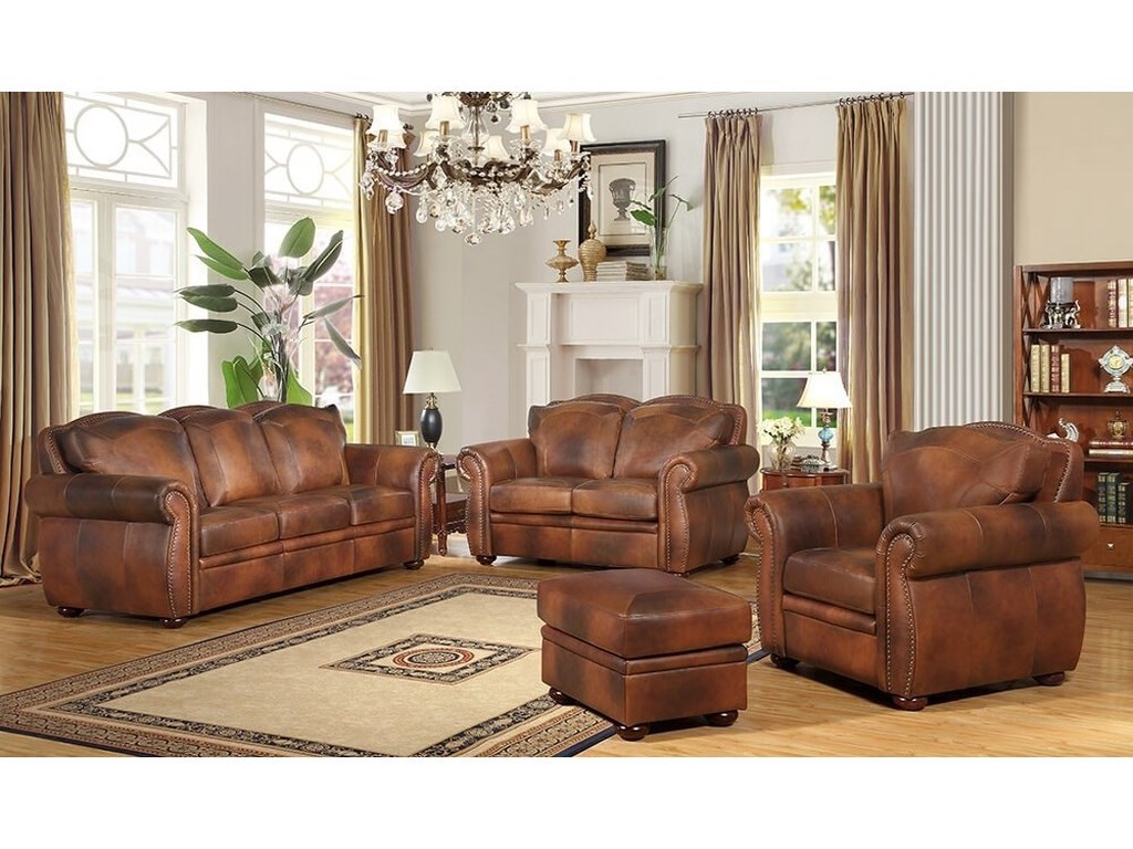 Leather Italia USA ArizonaStationary Living Room Group