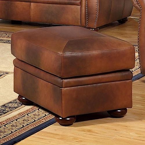 Leather Italia Usa Arizona Leather Ottoman Moore S Home