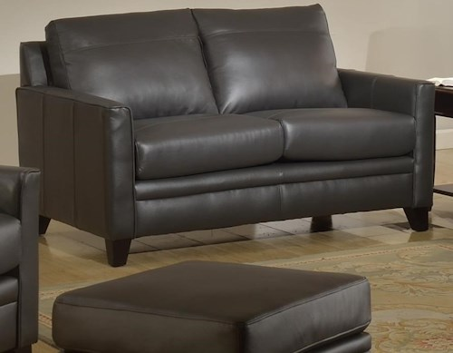 Leather Italia USA Fletcher Leather Loveseat