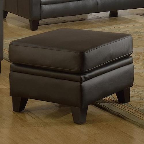 Leather Italia USA Fletcher Leather Ottoman