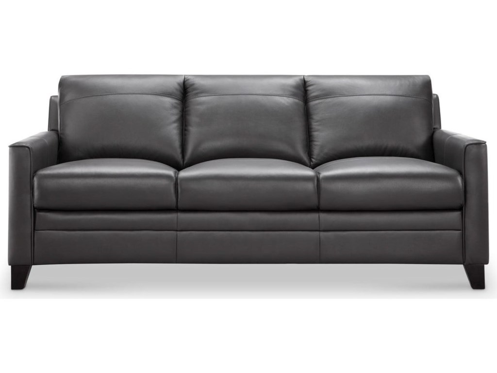 Fletcher Leather Sofa by Leather Italia USA at Lindy\'s Furniture Company