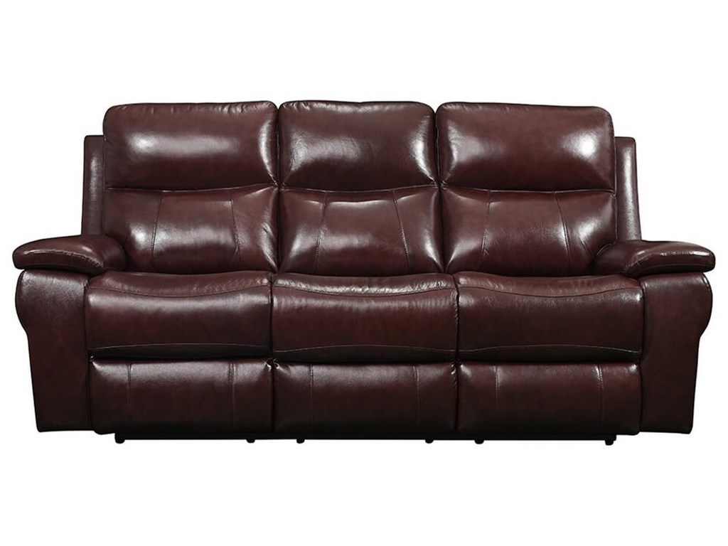 Leather Italia USA Belmont Power Reclining Sofa with Power Headrest ...