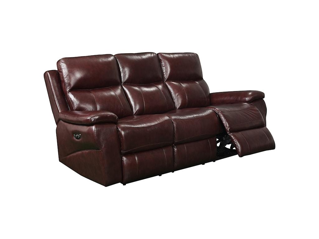 Leather Italia USA BelmontPower Reclining Sofa with Power Headrest