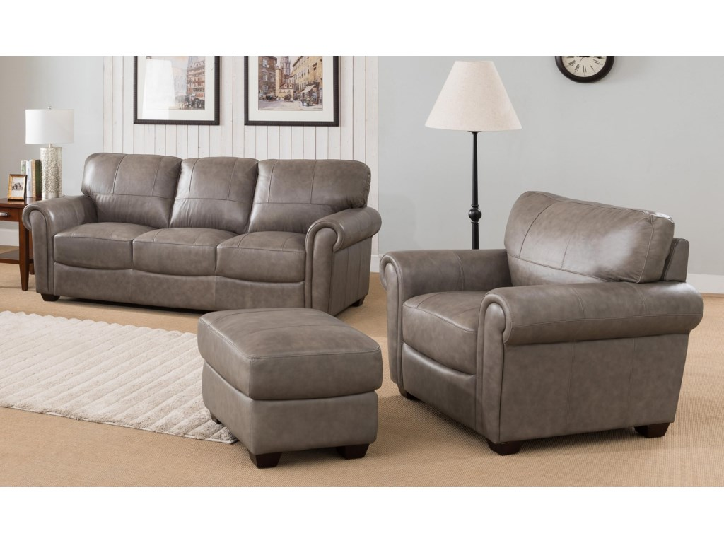 Branson 3 Piece 100% Leather Living Room Set
