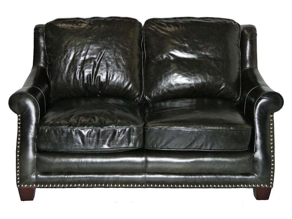 Leather Italia Usa Buchanan Loveseat W Rolled Arms