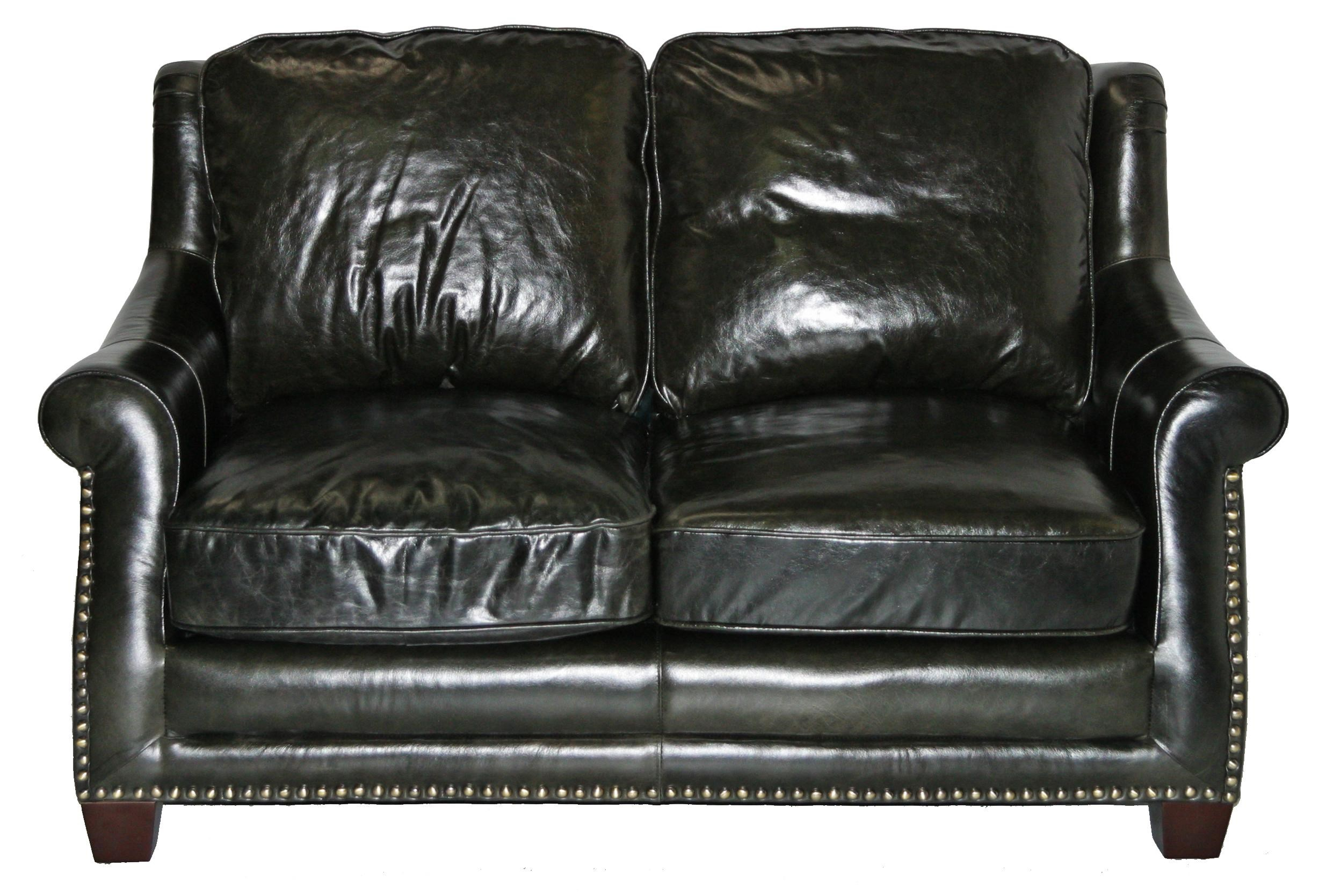 Buchanan Leather Loveseat W/ Rolled Arms By Leather Italia USA