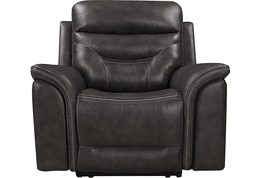 Leather Italia Usa Bullard Power Recliner With Headrest Darvin Furniture Recliners