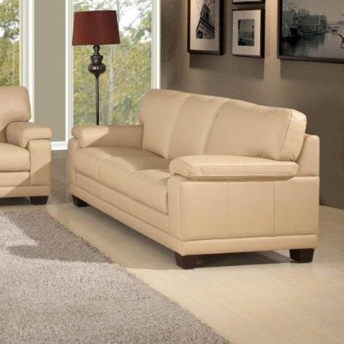 Leather Italia USA Carlisle Casual Contemporary Sofa With Saddle Bag Arm