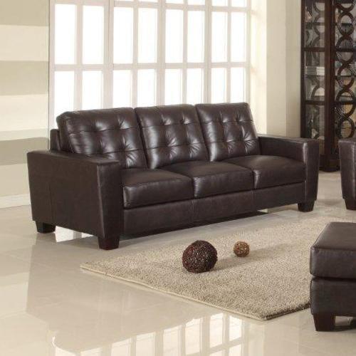 Leather Italia USA Compton Contemporary Sofa with Tufting