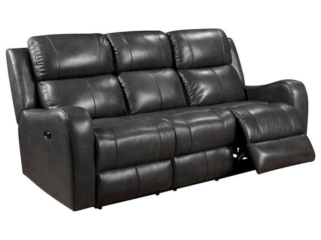 Leather Italia USA Cortana Power Reclining Leather Sofa