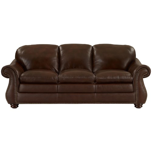 Leather italia usa dutton traditional rolled arm sofa for Furniture 500 companies