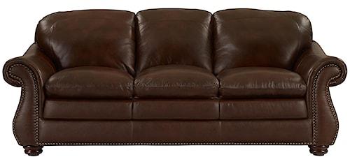 Leather Italia USA Dutton Traditional Rolled Arm Sofa