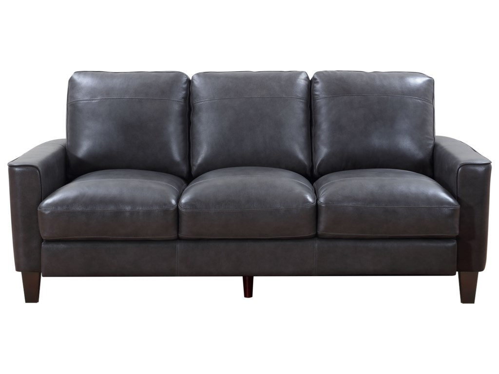 Leather Italia USA Georgetown - Chino Contemporary Leather Sofa with ...