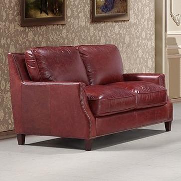 Leather Italia USA Georgetowne   Oakridge Leather Loveseat