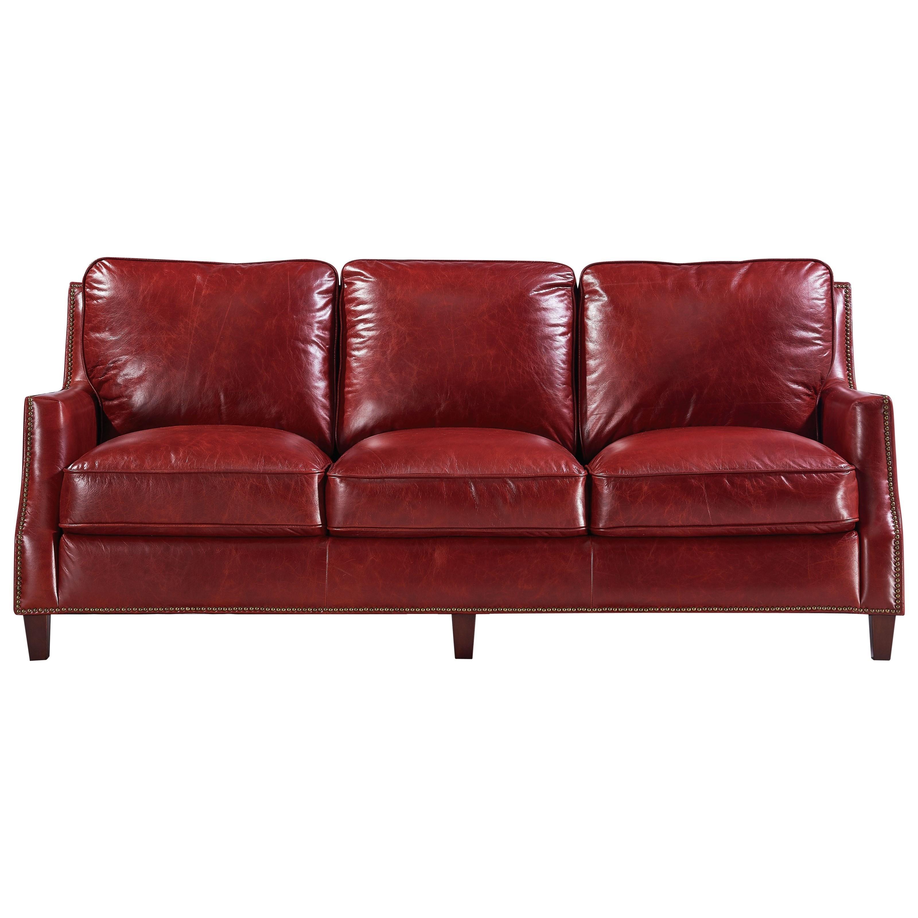 Leather Italia USA Georgetowne   Oakridge Leather Sofa