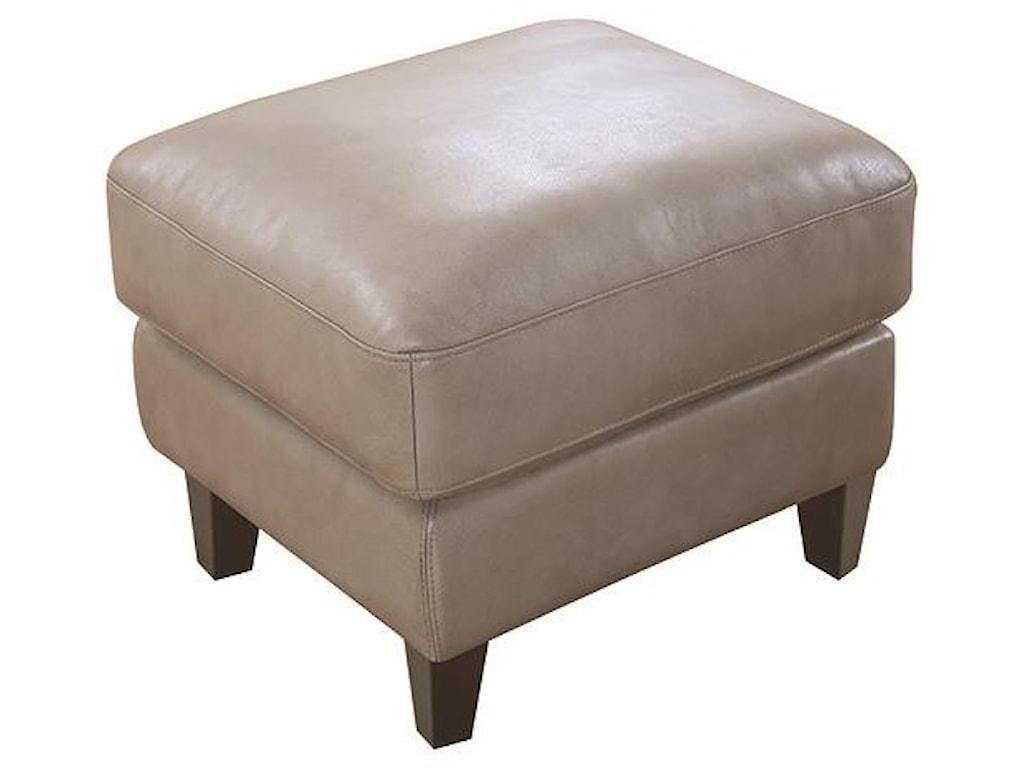 Leather Italia USA Georgetowne - OakridgeLeather Ottoman