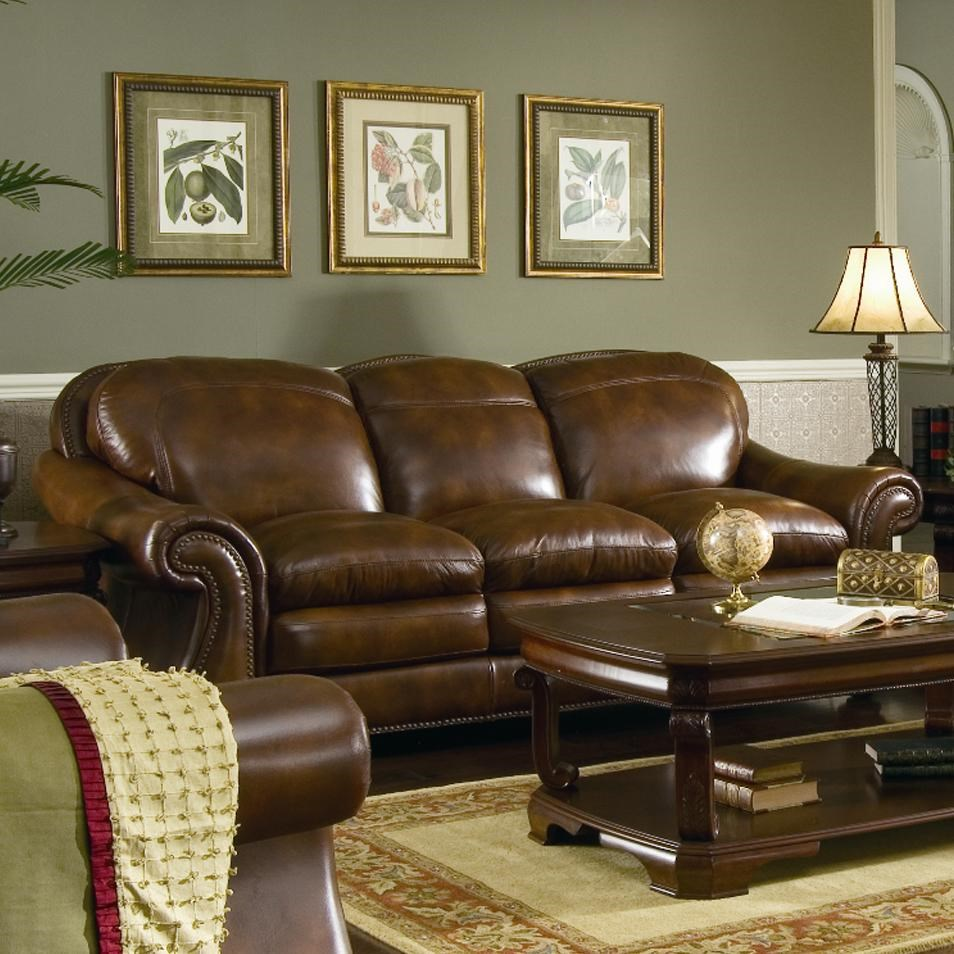 Leather Italia USA Hanover Leather Sofa