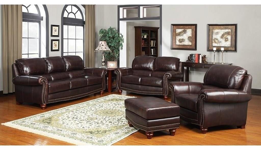 - Leather Italia USA James S9922-032952+022952+012952 Tobacco Sofa