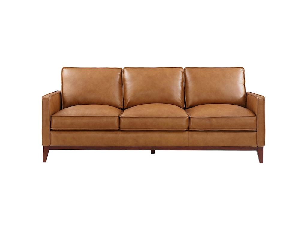 Leather Italia USA Newport Mid-Century Modern Sofa | Lindy\'s ...