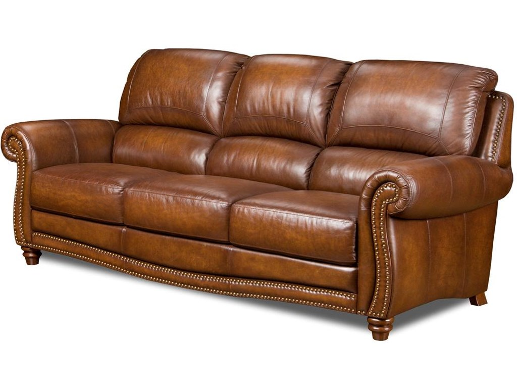 Leather Italia Usa Parker Leather Stationary Sofa Lagniappe Home
